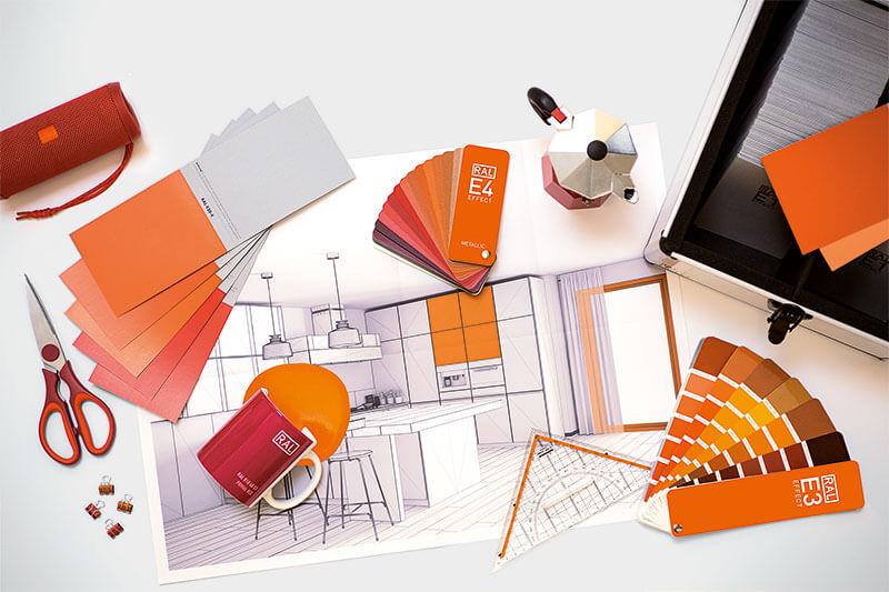 RAL Effect Produkt-Collage