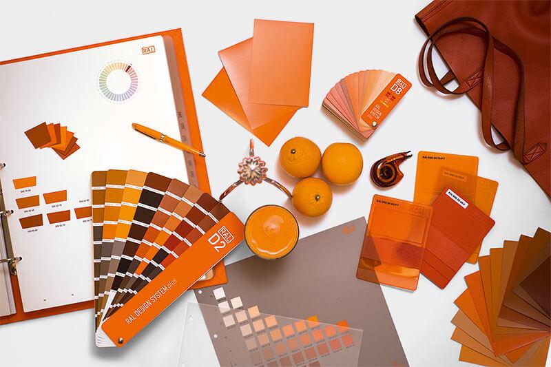 RAL Design System plus Produkt-Collage