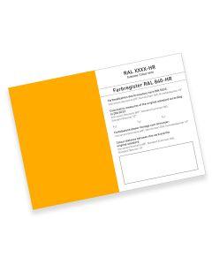 RAL 840-HR Farbregisterkarte Farbreihe 1000