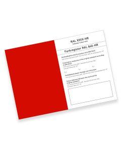 RAL 840-HR Farbregisterkarte Farbreihe 3000