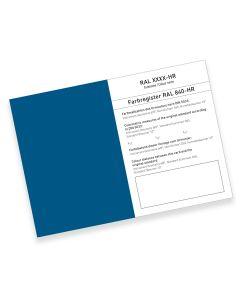 RAL 840-HR Farbregisterkarte Farbreihe 5000