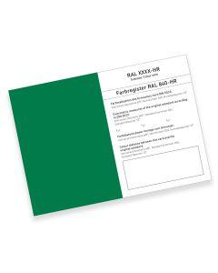RAL 840-HR Farbregisterkarte Farbreihe 6000