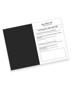 RAL 840-HR Farbregisterkarte Farbreihe 9000