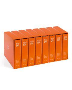 RAL D4 Einzelbogen Set, Frontansicht 8 Ringordner und Schuber