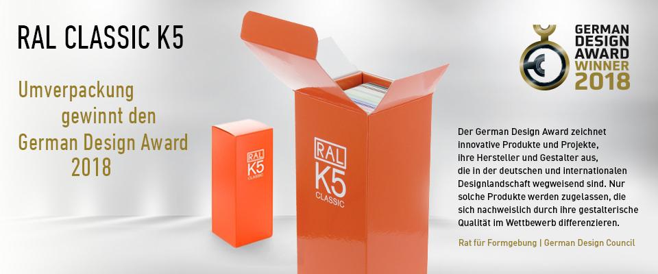 RAL K5 Farbfächer Repackaging gewinnt German Design Award